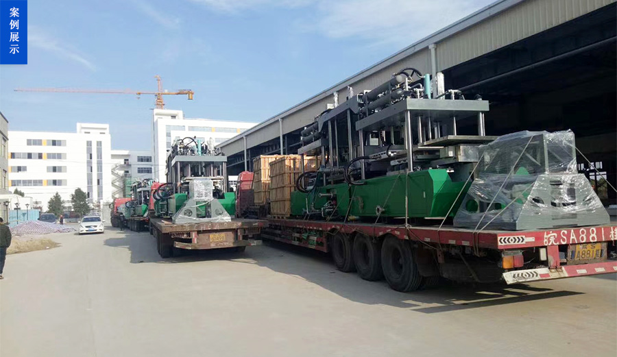 上海界龙实业集团有限公司成型机卸机到位