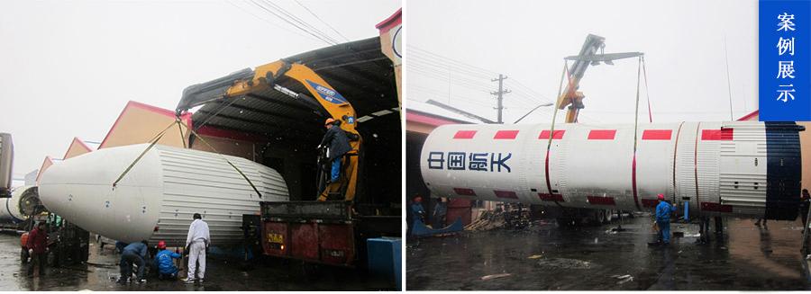 上海航天博物馆中转库吊装火箭